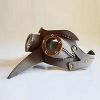 レザー製ゴーグルマスク