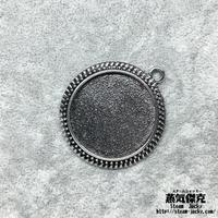 【5点セット】ペンダント素材 43mm x 38mm 金属製ハンドメイドパーツ 商品番号P-0046