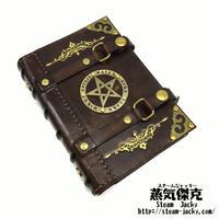 【A7サイズ】魔導書風手帳 革製ページ式ポーチ付き