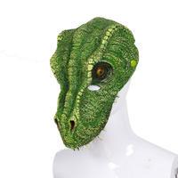 『お手軽、緑の恐竜マスク』