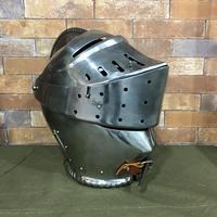 【委託品・中古】西洋ヘルム ヘルメット 兜 金属製