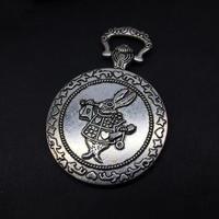 『白ウサギの懐中時計』金属素材