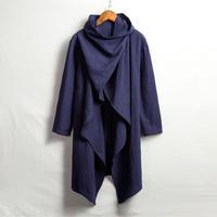 【ネイビー】冒険者の古びたポンチョ(袖付き)