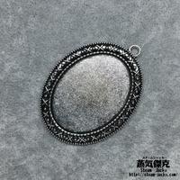 【5点セット】ペンダント素材 55mm x 40mm 金属製ハンドメイドパーツ 商品番号P-0009
