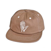 HEORIES HAND OF THEORIES 5PANEL CAP / BROWN CONTRAST STITCH