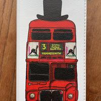 【iPhone】ロンドンバス 帯なし手帳型スマホケース PLUS/XR/XS MAX