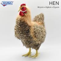 HANSA ベージュメンドリ 4588 リアル ぬいぐるみ 動物 愛らしい プレゼント にわとり 鶏