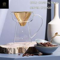 Cores コレス ゴールドコーン フィルター&サーバー コーヒー ドリッパー サーバー ゴールドフィルター 500ml 2~4杯用 C750GD