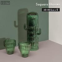 DOIY ドーイ Saguaro Glasses サワログラス グラス6個セット サボテン インテリア おしゃれ プレゼント