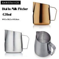 Barsita&Co バリスタアンドコー バリスタコー Dial In Milk Pitcher ダイヤルインミルクピッチャー 420ml ラテアート 軽量カップ