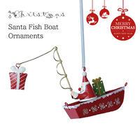 彩か(Saika)Santa Fish Boat CXM-57 オーナメント サンタクロース クリスマス 飾り インテリア