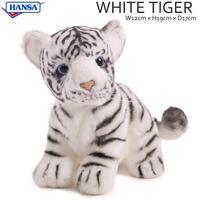 HANSA ハンサ ホワイトタイガー 子供 3420 リアル ぬいぐるみ 動物 愛らしい プレゼント アニマル