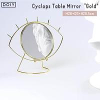"""Doiy ドーイ Cyclops Table Mirror """"Gold""""  サイクロプステーブルミラー""""ゴールド""""   卓上ミラー 鏡 鏡台 インテリア 目 おしゃれ かわいい"""