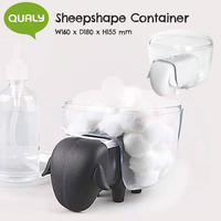 QUALY クオリー Sheepshape Container シープシェイプ コンテナー 小物入れ コットンケース 収納 整理整頓
