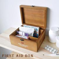 救急箱 ファーストエイドボックス ミニ PREVENT ウッド 18×14×9.5cm