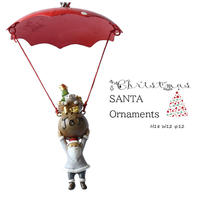 彩か(Saika)New Red Parachute CTP-X265r オーナメント サンタクロース クリスマス 飾り インテリア
