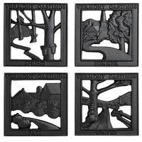 Vermont Castings ( バーモントキャスティングス ) 四季のトリベット(4点セット) フォーシーズントリベット 0095 鍋敷き 薪ストーブ 暖炉