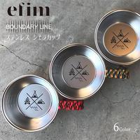 efim (エフィム) BOUNDARY LINE ステンレス シェラカップ パワーコード グリップ付き BL-SCG 日本製 6カラー パラコード アウトドア キャンプ グッズ クッカー ツール