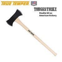TRUE TEMPER トゥルーテンパー TOUGHSTRIKE ダブルビットアックス アメリカンヒッコリーシャフト 両刃斧 枝打ち 薪割り 倒木