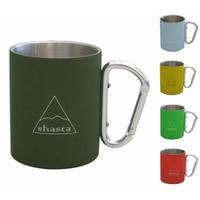 shasta(シャスタ) CARABINER MUG カラビナマグ ラバーコーティング アウトドア マグカップ 300ml 保温 保冷