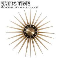 Emits Time エミッツタイム ウォールクロック 壁掛け時計 ミッドセンチュリー 時計 アンティーク レトロ