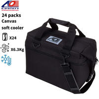 AO Coolers エーオークーラー キャンバス ソフトクーラーバッグ 24パック 軽量 保冷 保証 クーラーボックス 保冷バッグ アウトドアギア