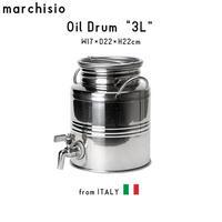 marchisio マルキジオ Oil Drum オイルドラム 3L ウォータージャグ ステンレス スチール イタリア製 アウトドア キャンプ グランピング