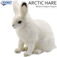 HANSA ハンサ ホッキョクウサギ 7851 うさぎ リアル ぬいぐるみ 動物 愛らしい プレゼント