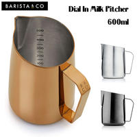 Barsita&Co バリスタアンドコー バリスタコー Dial In Milk Pitcher ダイヤルインミルクピッチャー 600ml ピッチャー ラテアート 計量カップ