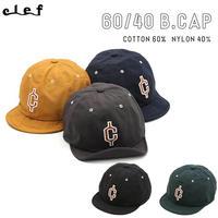 clef クレ 60/40 B.CAP ソフトバイザーキャップ ロクヨン 帽子 WIRED BRIM 汗止め サイズ調整機能付き