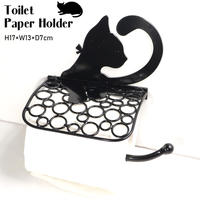アイアン ペーパーホルダー Toilet Paper Holder プリティキャット cie-366 猫 ネコ アンティーク風 おしゃれ シンプル