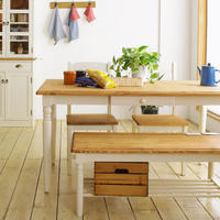 nora. Fennel dining table フィンネル ダイニングテーブル 幅140cm 北欧 4人掛け 引き出し リビング学習