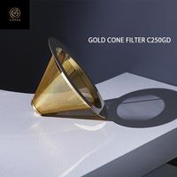 Cores コレス ゴールドコーン フィルター コーヒー ドリッパー ゴールドフィルター 4杯用 C250GD