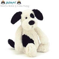 Jellycat ジェリーキャット 子犬のぬいぐるみ Bashful Black & Cream Puppy Small_BASS6BCP