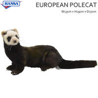 HANSA ハンサ ヨーロッパケナガイタチ 41 リアル 動物 ぬいぐるみ プレゼント イタチ フェレット