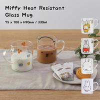 GENIAL ジェニアル Miffy Heat Resistant Glass Mug ミッフィー耐熱ガラスマグ マグカップ 耐熱ガラス 330ml 電子レンジ対応 全6種類