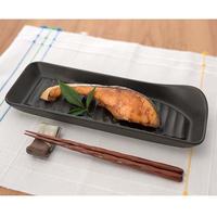 カネセ 超耐熱深姿焼皿 コルク台付 ブラック G-701【耐熱姿焼グリルプレート】