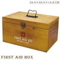 救急箱 ファーストエイドボックス PREVENT ウッド 22×14.5×13cm