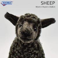 HANSA ハンサ クロヒツジ 仔 4561 羊 子羊 リアル ぬいぐるみ 動物 愛らしい プレゼント アニマル