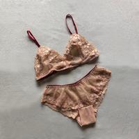 Nudie pink lace bralette set up