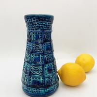 1960's~70's BAY keramik社製 レリーフモチーフ ブルー×ターコイズベース /WK299