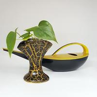 1950's BAY keramik イエロー×ブラック スモールベース/WK101