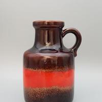 1970's scheurich社製 レッド×ダークブラウン fatlava ジャグベース/WK184