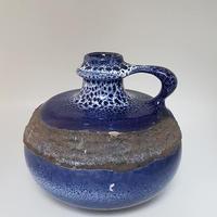 1960's GDR/ DDR VEB haldensleben製 fat lava 花瓶 ブルー  DK014