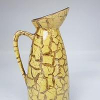 1950's BAY keramik イエロー×ゴールド スモールベース/WK100