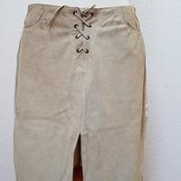 スウェードレザー×Levi's ホワイトデニムリメイクスカート**送料込み**