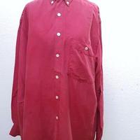 1980's~ メンズシルクシャツFUCHSIA PINK/size S**送料込み**
