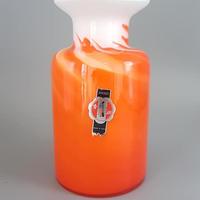 1960's~70's ムラーノグラス オレンジ×ホワイトベース