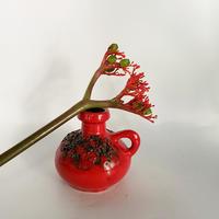 1960's ドイツkreutz keramik社製 赤いスモール ファットラヴァベース /WK314