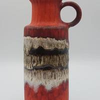 1960's Scheurich製 レッド fat lava ピッチャーベース /WK046